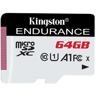 Карта памяти 64Gb microSDHC Kingston High Endurance UHS-I Class 10 U1 (SDCE/64GB)